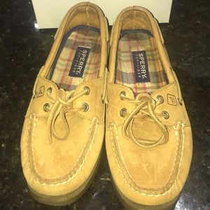 Sperry Top-spider Tan Loafers